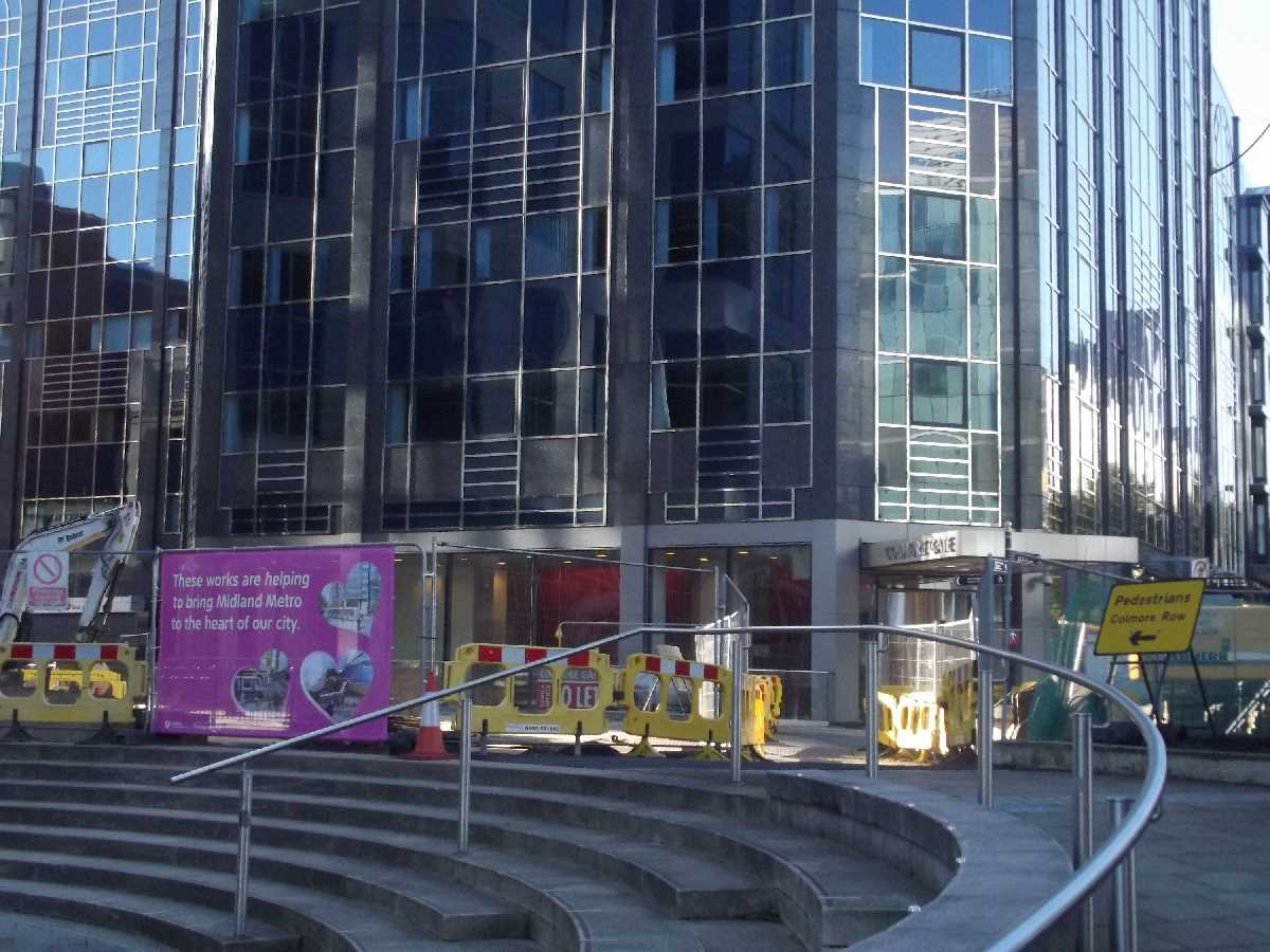 Midland Metro extension Colmore Square